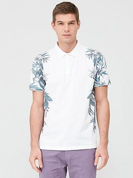 V by Very V By Very Floral Side Printed Polo Shirt - White Picture