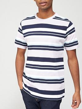 V by Very V By Very Horizontal Stripe Pique T-Shirt - Multi Picture