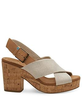 TOMS Toms Ibiza Pearlized Chunky Heeled Sandal - Natural Picture