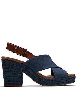 TOMS Toms Ibiza Pearlized Chunky Heeled Sandal - Blue Picture