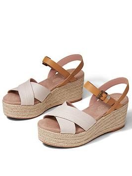 TOMS Toms Willow Wedge Sandal - Natural Picture