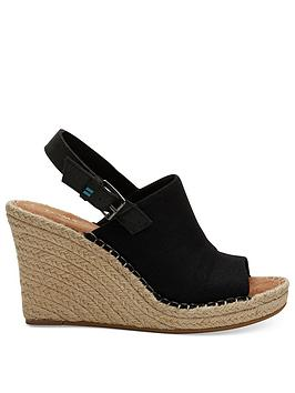 TOMS Toms Monica Wedge Sandal - Black Picture
