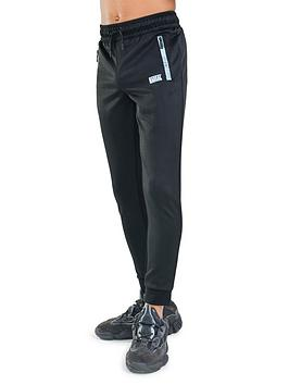 Rascal Distorted Grid Jogger Pant - Black