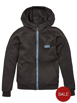 rascal-childrensnbspdisorted-grid-shell-full-zip-tracktop-black