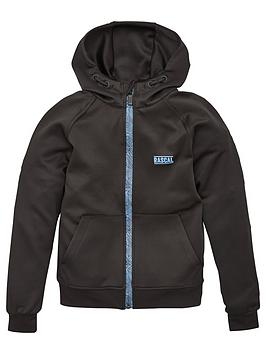 Rascal Rascal Childrens Disorted Grid Shell Full Zip Tracktop - Black Picture