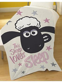 Shaun The Sheep Shaun The Sheep This Sheep Loves Sleep Blanket Picture