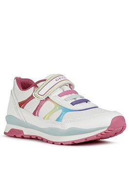 Geox Geox Girls Pavel Strap Trainers - White Multi Picture