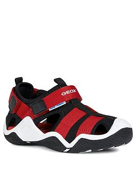 geox-boys-wader-sandal--nbspblackred