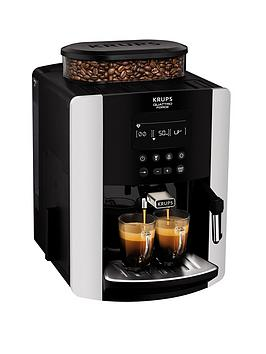 Krups   Arabica Digital Ea817840 Espresso Bean To Cup Coffee Machine - Silver