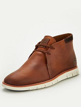 Barbour Barbour Boughton Leather Flexi Desert Boots - Amber Picture