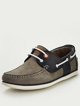 Barbour Barbour Capstan Leather Boat Shoes - Grey Picture