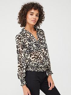 oasis-smudge-print-chiffon-blouse-mono