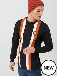 pretty-green-workshop-long-sleeve-stripe-t-shirt-black