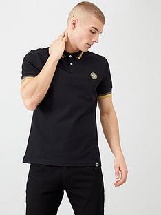 pretty-green-tipped-collar-polo-shirt-black