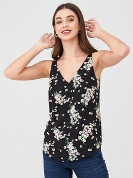 Oasis  Dandelion Floral Vest - Multi/Black