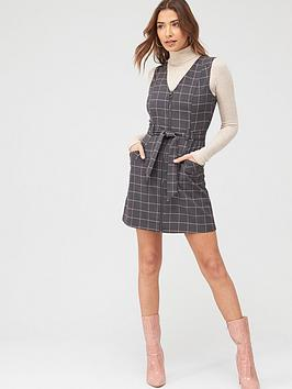 Oasis Oasis Check Zip Through Shift Dress - Grey Picture