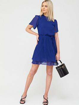 Oasis Oasis Plain Pleated Skater Dress - Mid Blue Picture