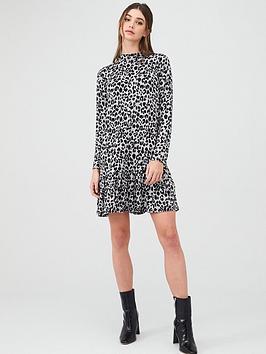 Oasis Oasis Drop Waist Cosy Dress - Multi Grey Picture