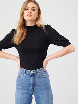 Oasis Oasis Balloon Sleeve Turtle Neck Top - Black Picture