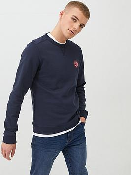 pretty-green-like-minded-sweatshirt-navy
