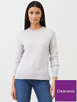 oasis-daisy-spaced-texture-knit-pale-grey