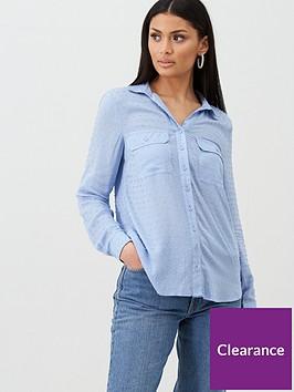 oasis-viscose-dobby-shirt-rich-blue