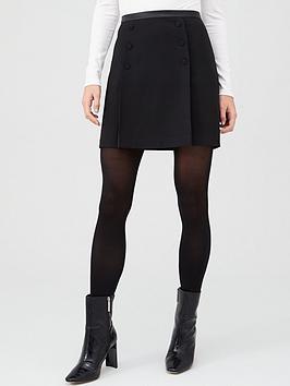 Oasis Oasis Button Detail Mini Skirt - Black Picture