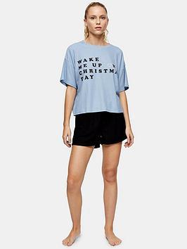 topshop-wake-me-up-waffle-pyjama-set-blue