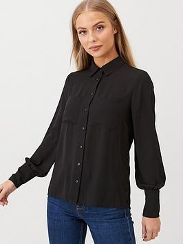 V by Very V By Very Essential Pleat Back Formal Blouse - Black Picture