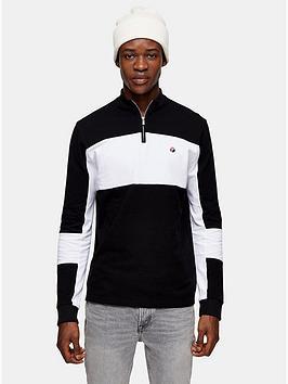 topman-mock-neck-long-sleeve-t-shirt-black