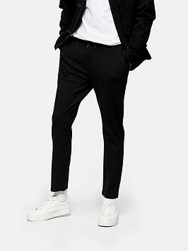 Topman Topman Jersey Whyatt Trousers - Black Picture