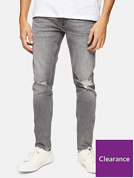 topman-ripped-super-skinny-jeans-grey