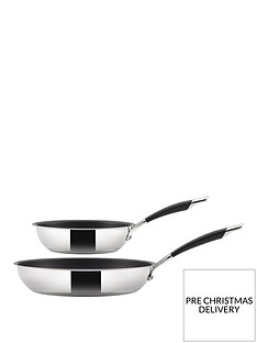 circulon-momentum-stainless-steel-frying-pan-twin-pack
