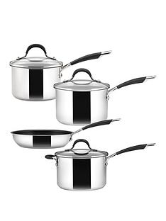 circulon-momentum-stainless-steel-4-piece-pan-set