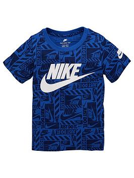 nike-sportswear-younger-boys-brand-toss-printed-t-shirt-royal-blue