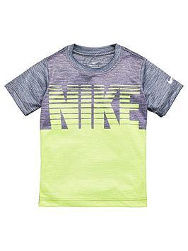 Nike Nike Sporstwear Younger Boys Blocked Stacked T-Shirt - Dark Grey Picture