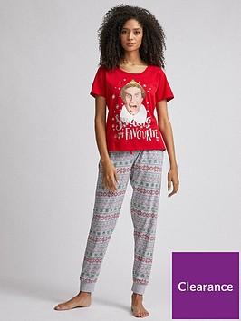 dorothy-perkins-elf-pyjama-set-red