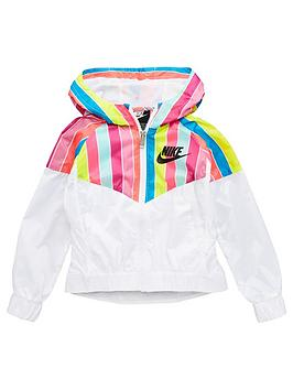 Nike Nike Nsw Younger Girls Striped Windrunner Jacket - White Picture