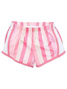 Nike Nike Younger Girls Dri-Fit Stripe Tempo Running Shorts - Pink Picture