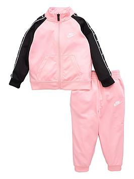 Nike Nike Nike Sportswear Infant Girls Swoosh Tricot Taped Tracksuit Picture