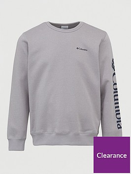 columbia-logo-fleece-crew-neck-sweat-grey-heather