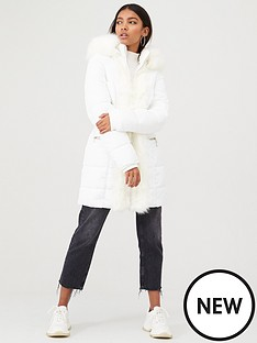 river-island-river-island-faux-fur-front-shine-padded-coat-cream