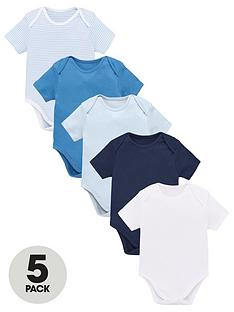 v-by-very-baby-boys-5-pack-short-sleeve-essential-blue-mix-bodysuits-blues