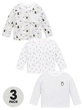 V by Very V By Very Baby Unisex 3 Pack Explorer Tops - Multi Picture
