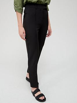 V by Very V By Very Long Straight Leg Trousers - Black Picture
