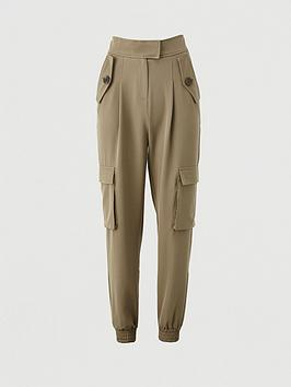 V by Very V By Very Utility Tailored Jogger Trousers - Khaki Picture
