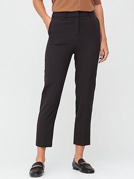 V by Very V By Very Petite Slim Leg Ankle Grazer Trousers - Black Picture