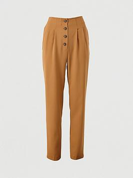 V by Very V By Very Button Front Slim Trousers Picture
