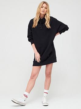 superdry-arizona-funnel-sweat-dress-black