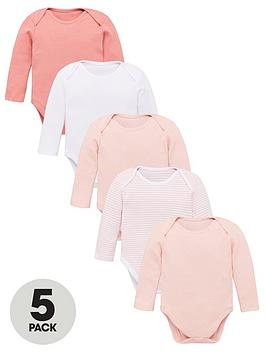 V by Very V By Very Baby Girls 5 Pack Long Sleeve Essential Pink Mix  ... Picture